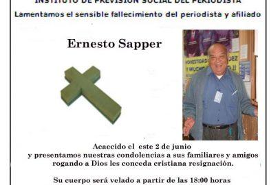 Fallece Periodista Neto Sapper