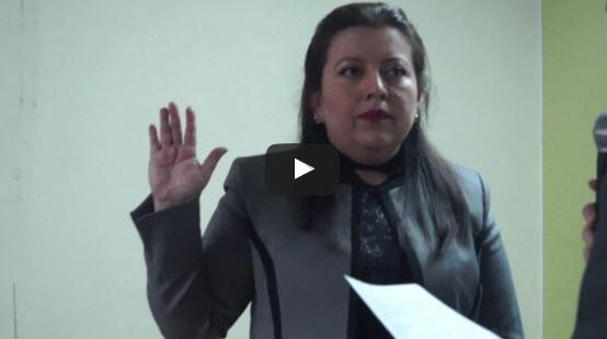 Juramentación de Lucia Dubón en el cargo de Presidenta 2016-2018