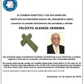(+) Felícito Alegría Herrera (13-oct-2018)