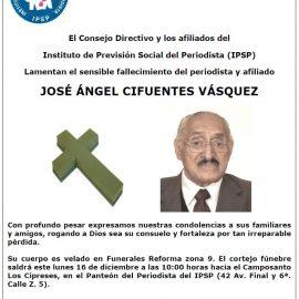Nota de Duelo: José Ángel Cifuentes Vásquez